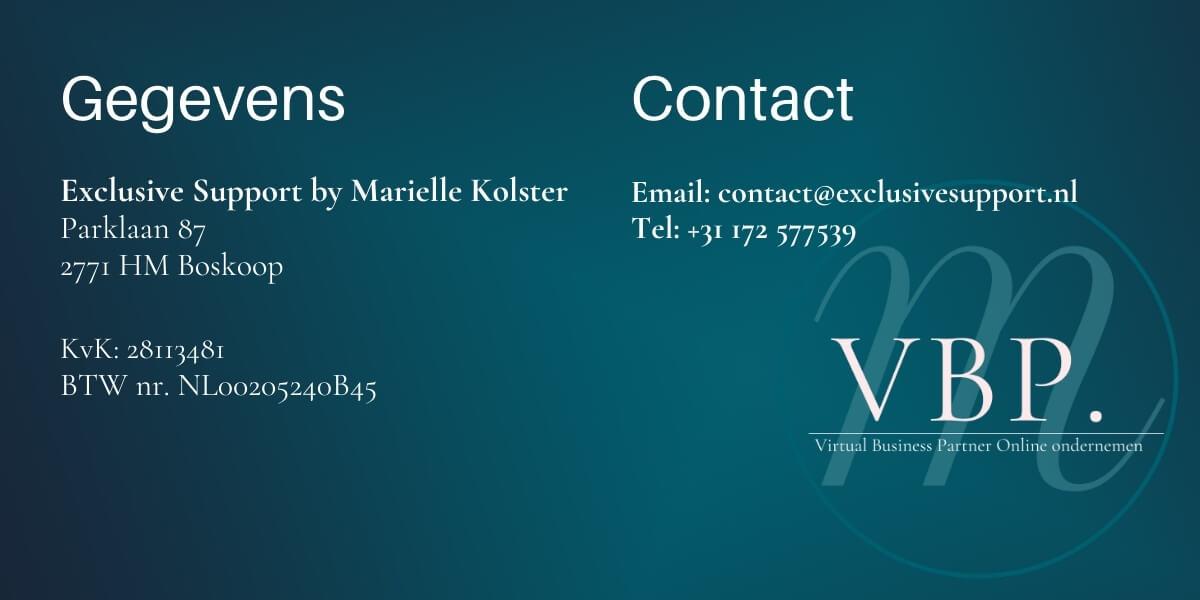 Marielle Kolster | Virtual Business Partner Online Ondernemen